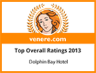 Venere.com top overall ratings 2013 award for Dolphin Bay Family Beach Resort Hotel in Syros